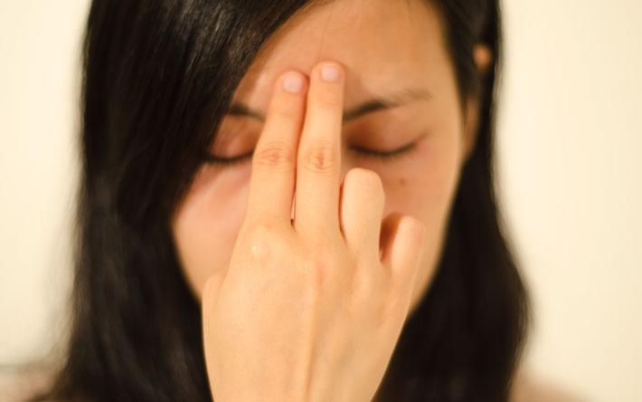 Placement des doigts, image visage