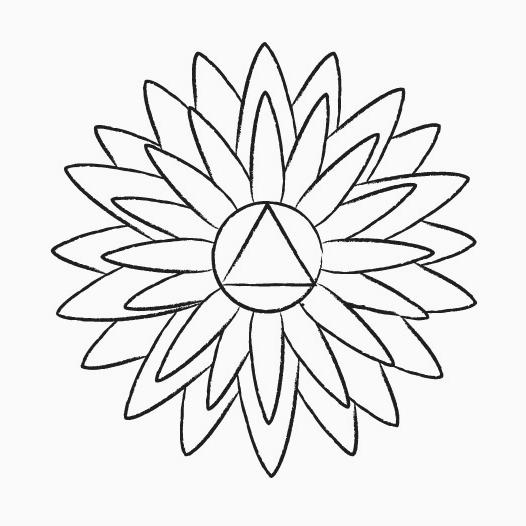 Le symbole de sahasrara chakra, une fleure de lotus avec mille pétales.