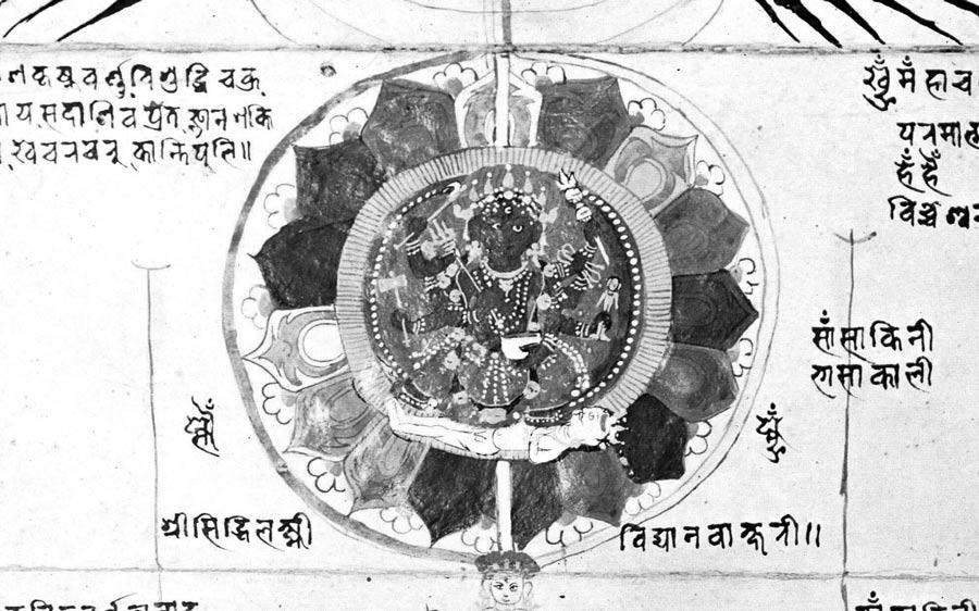 Chakra d'une peinture du Rajastan