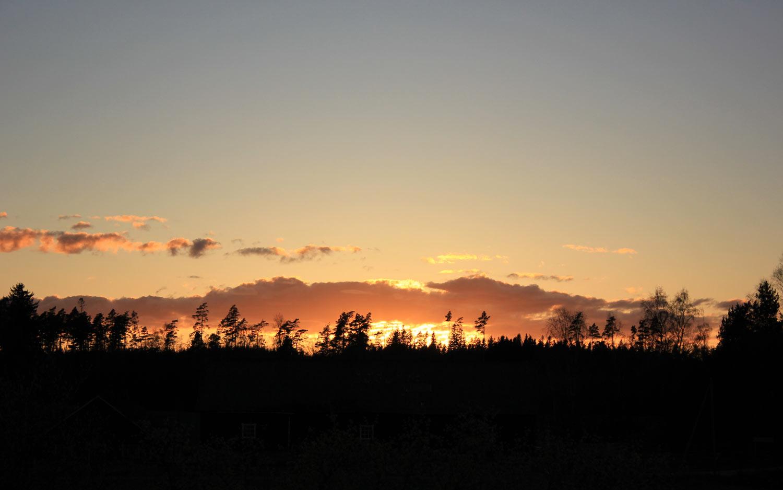 Coucher du soleil pendant le stage du trois mois 2014.