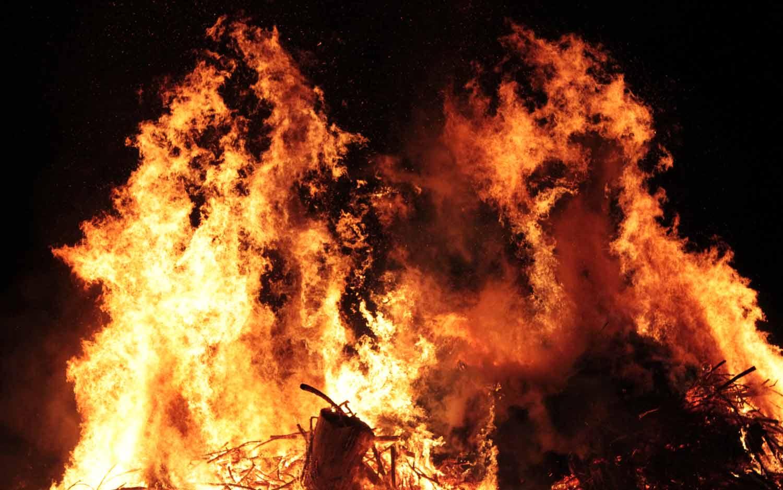Le grand feu.
