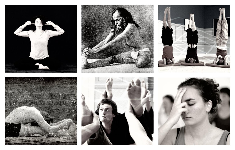 Pratiques lors d'un cours de hatha yoga