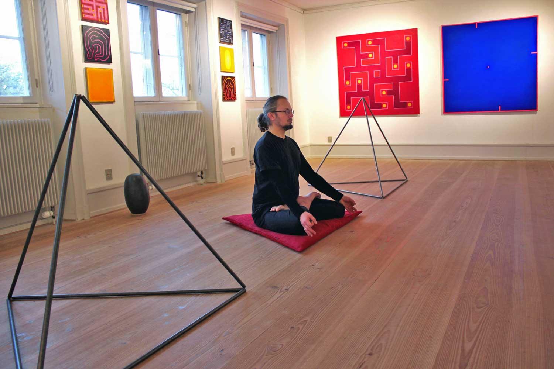 Performance par Carsten Crone Caroc à Sophienholm, Copenhague 2017